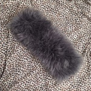 Grey Gray Faux Fur Winter Headband